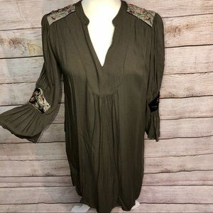 Carolina Belle Montreal Olive Green Dress